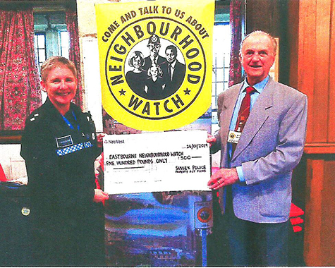 cd0b3f7a8d Accepting a cheque from Inspector Rachel Barrow the association s Acting  Chair
